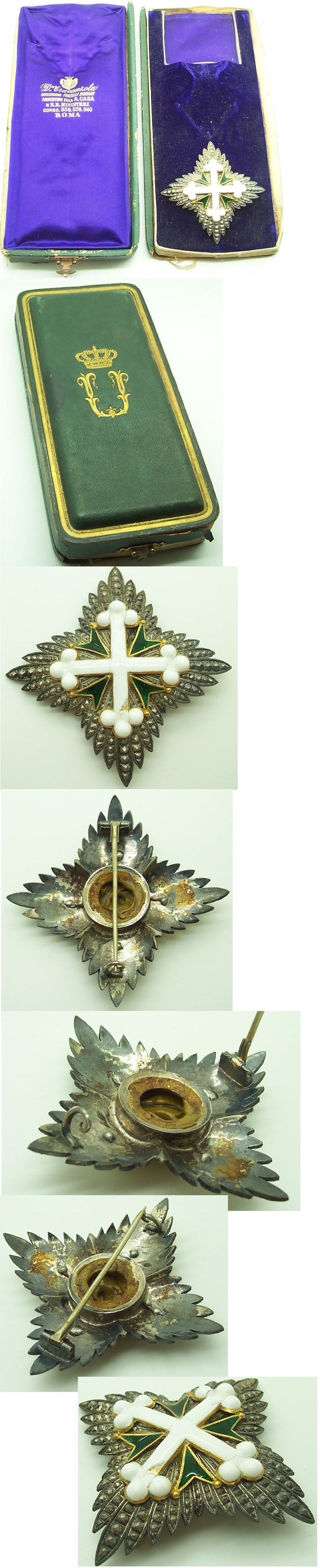 Order of St. Maurice and Lazarus 2nd Class Breast Star