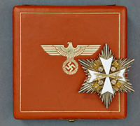 A Cased 1939 Order of the German Eagle Breast Star with Swords by Godet