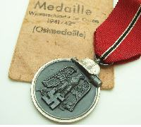 Eastern Front Medal by Zimmermann with packet