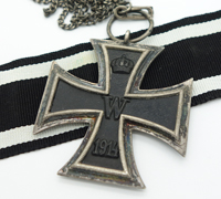 Imperial 2nd Class Iron Cross on a Necklace Chain by KAG