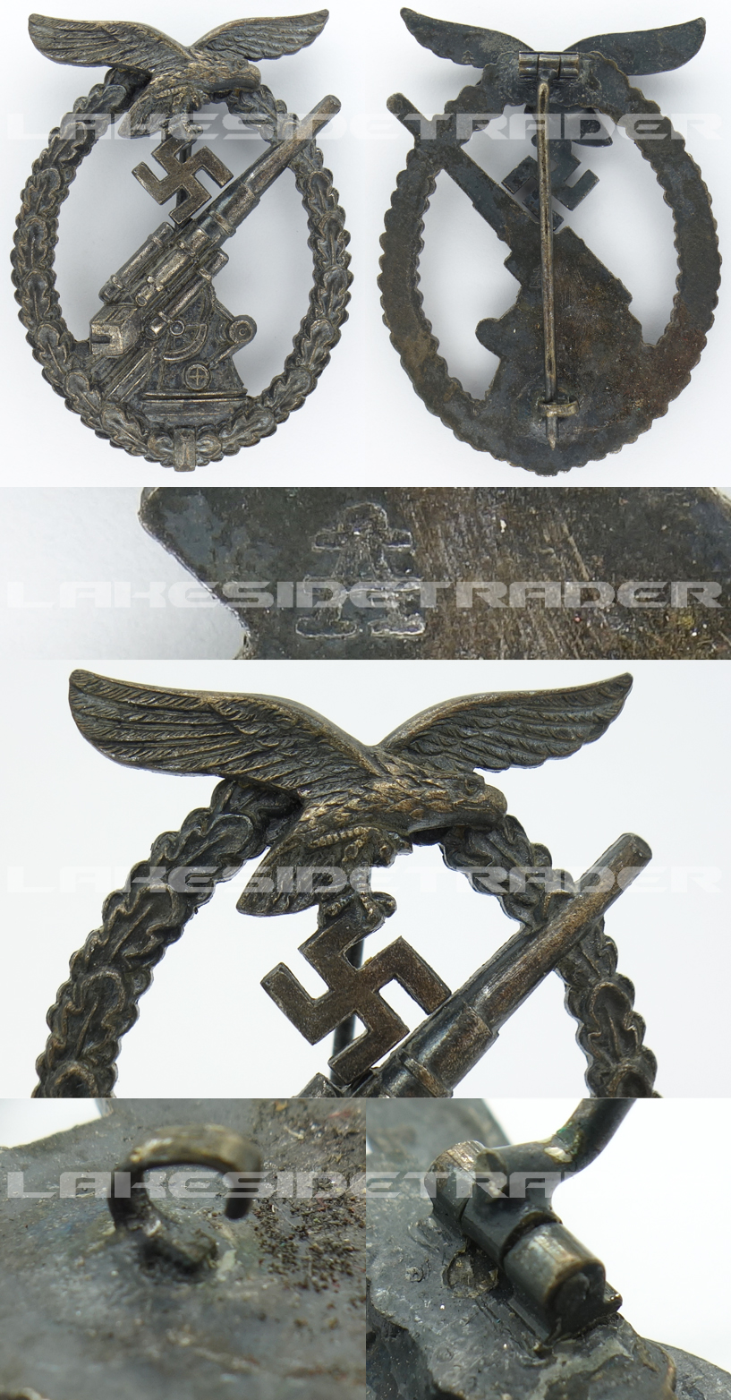 Luftwaffe Flak Badge by F. W. Assmann