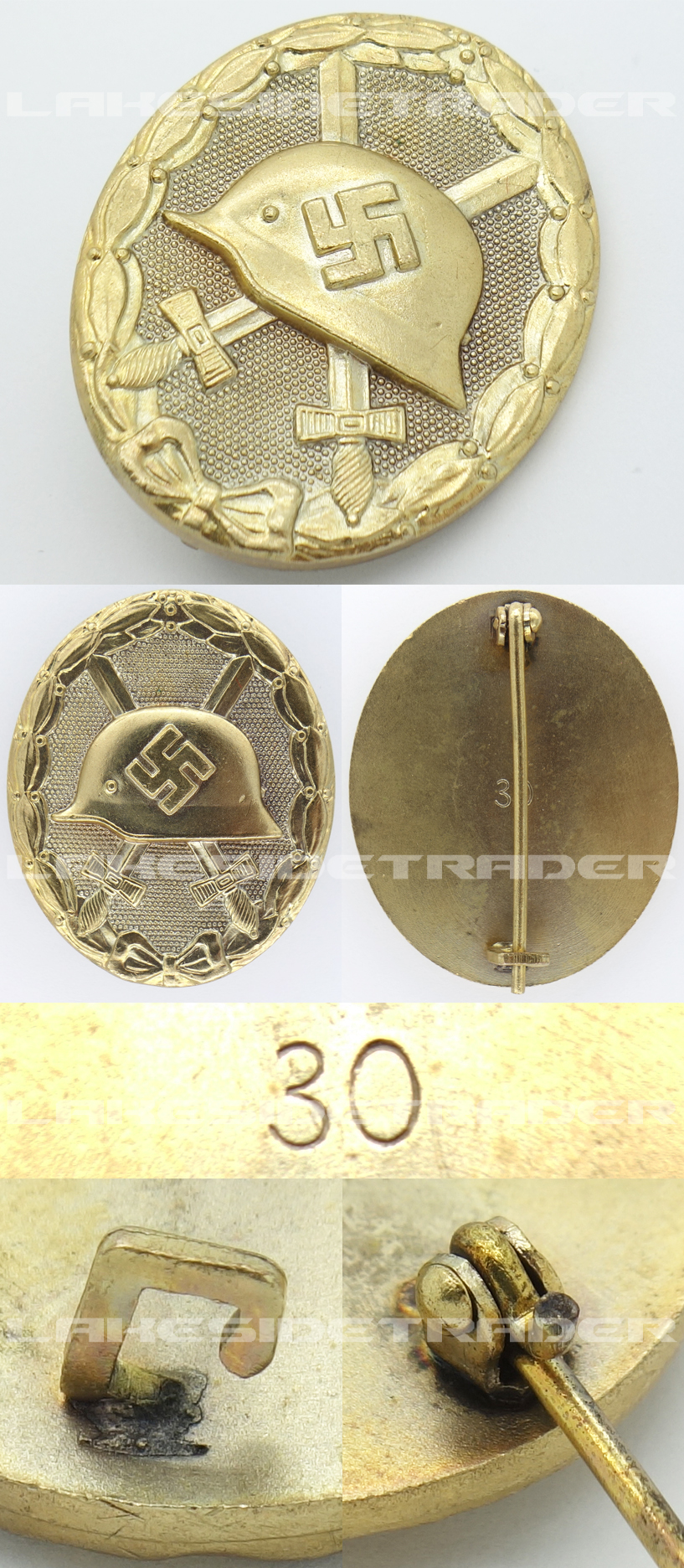 Mint Gold Wound Badge by 30