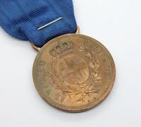 Italian Al Valore Militare Medal in Bronze by FG