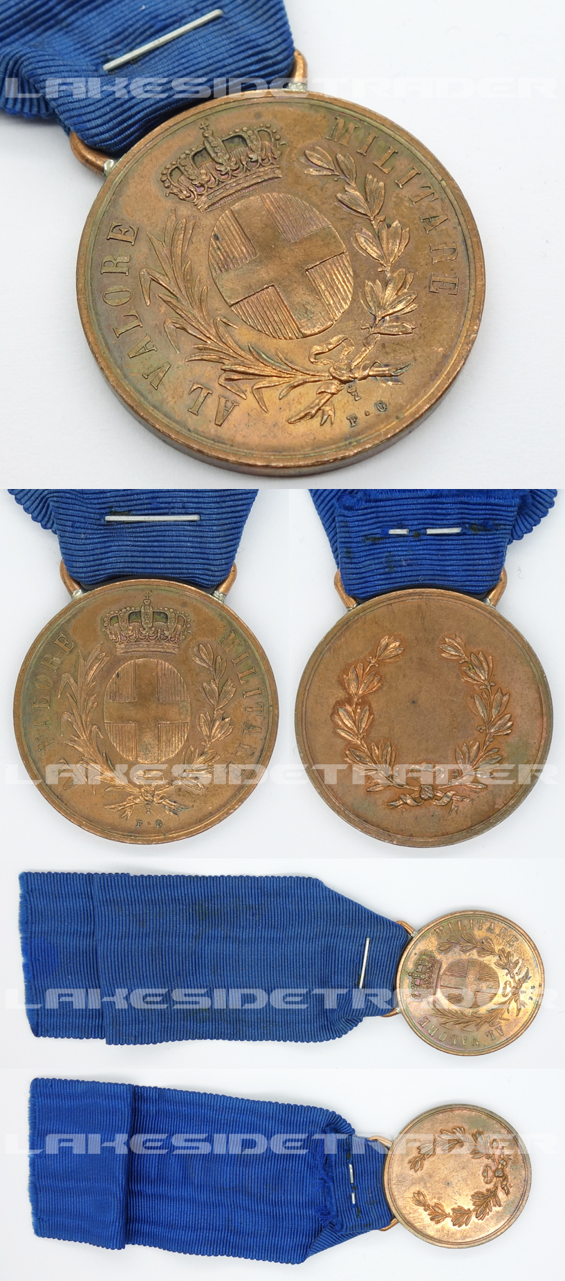 Italian Al Valore Militare Medal in Bronze by FG