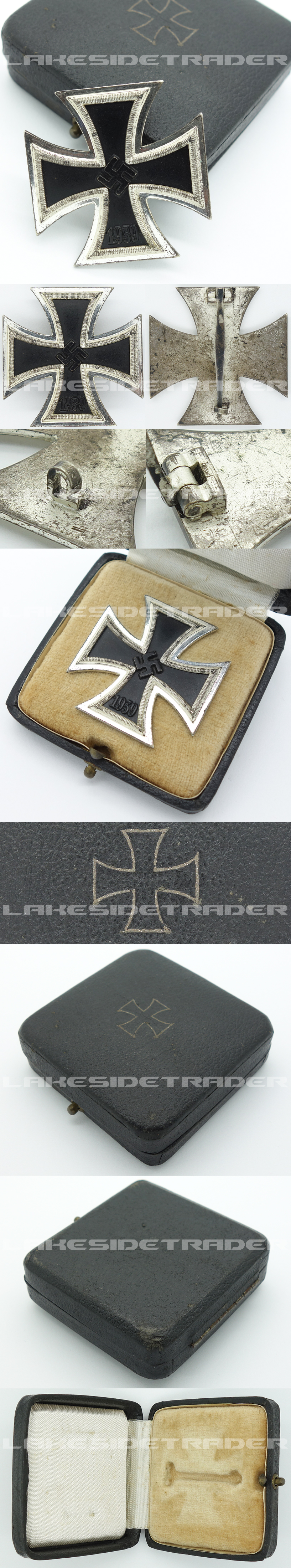 Cased Brass Core 1st Class Iron Cross by R. Wächtler & Lange