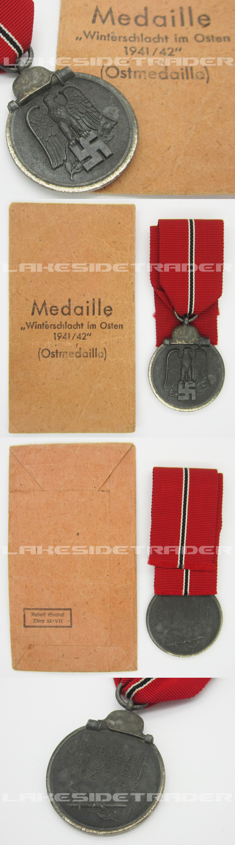 Eastern Front Medal and Packet by R. Souval