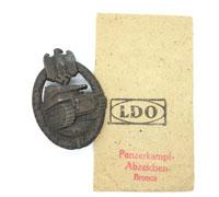 Bronze Panzer Assault Badge with LDO Packet