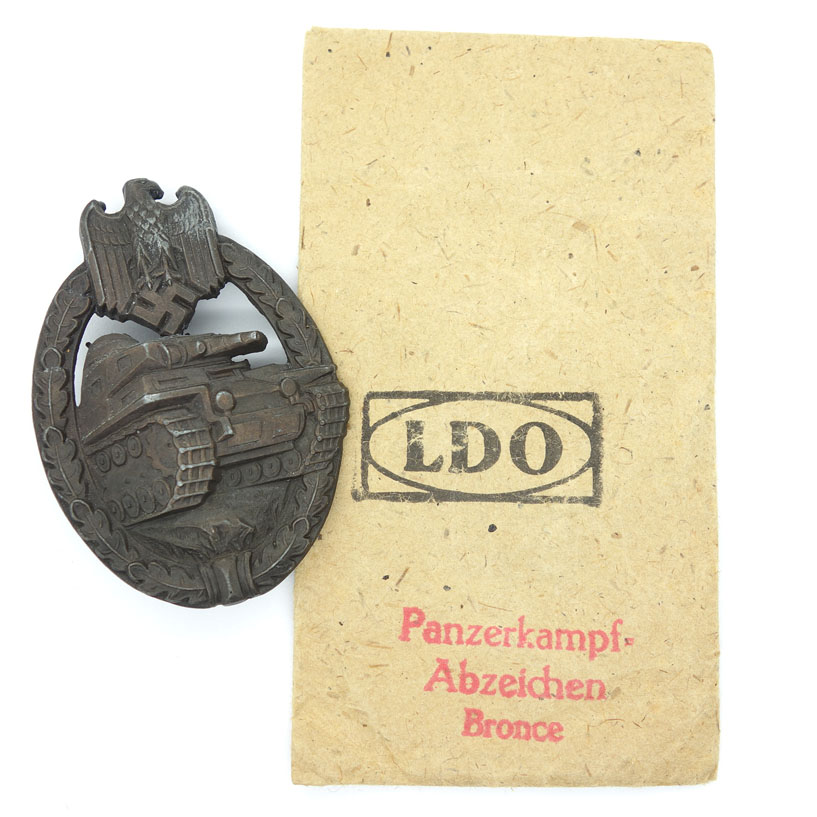 Bronze Panzer Assault Badge with LDO Packet