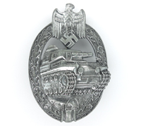 Silver Panzer Assault Badge by Adolf Scholze