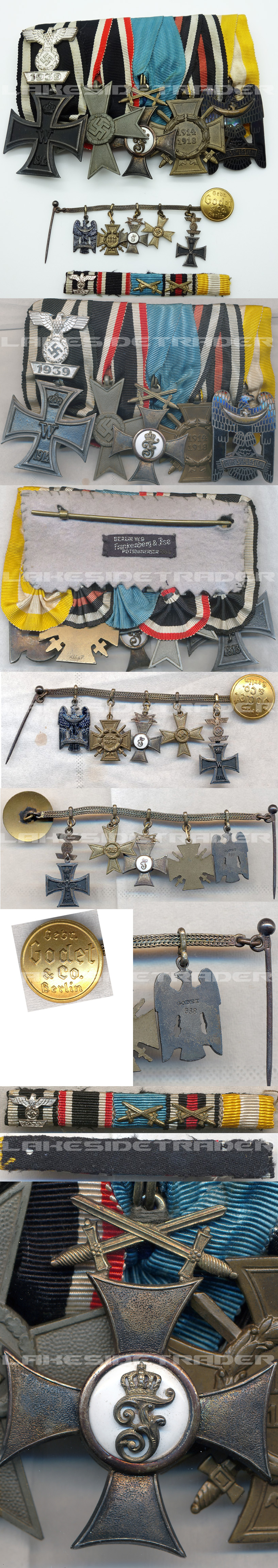 Five Place Medal Bar with Ribbon bar and Godet Miniatures
