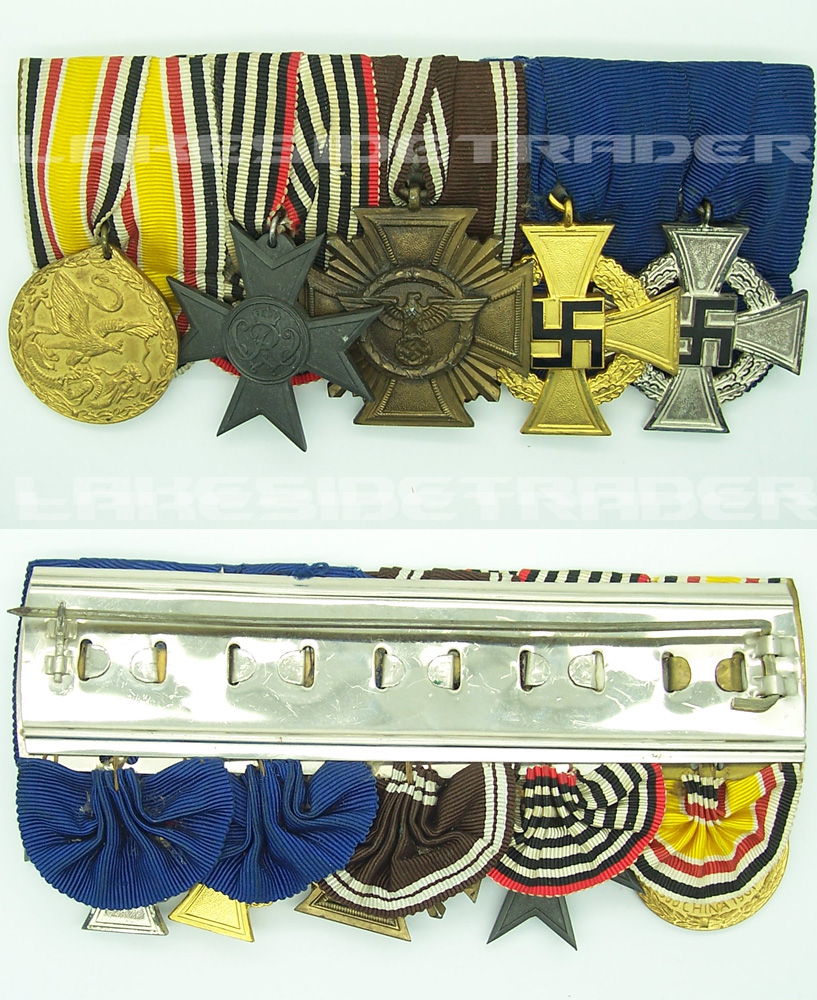Five Place Medal Bar with China Service