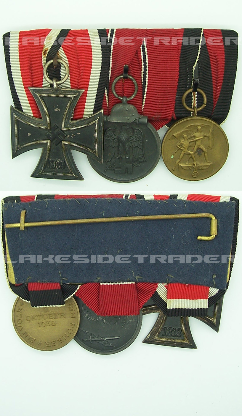 Three Place WWII Medal Bar