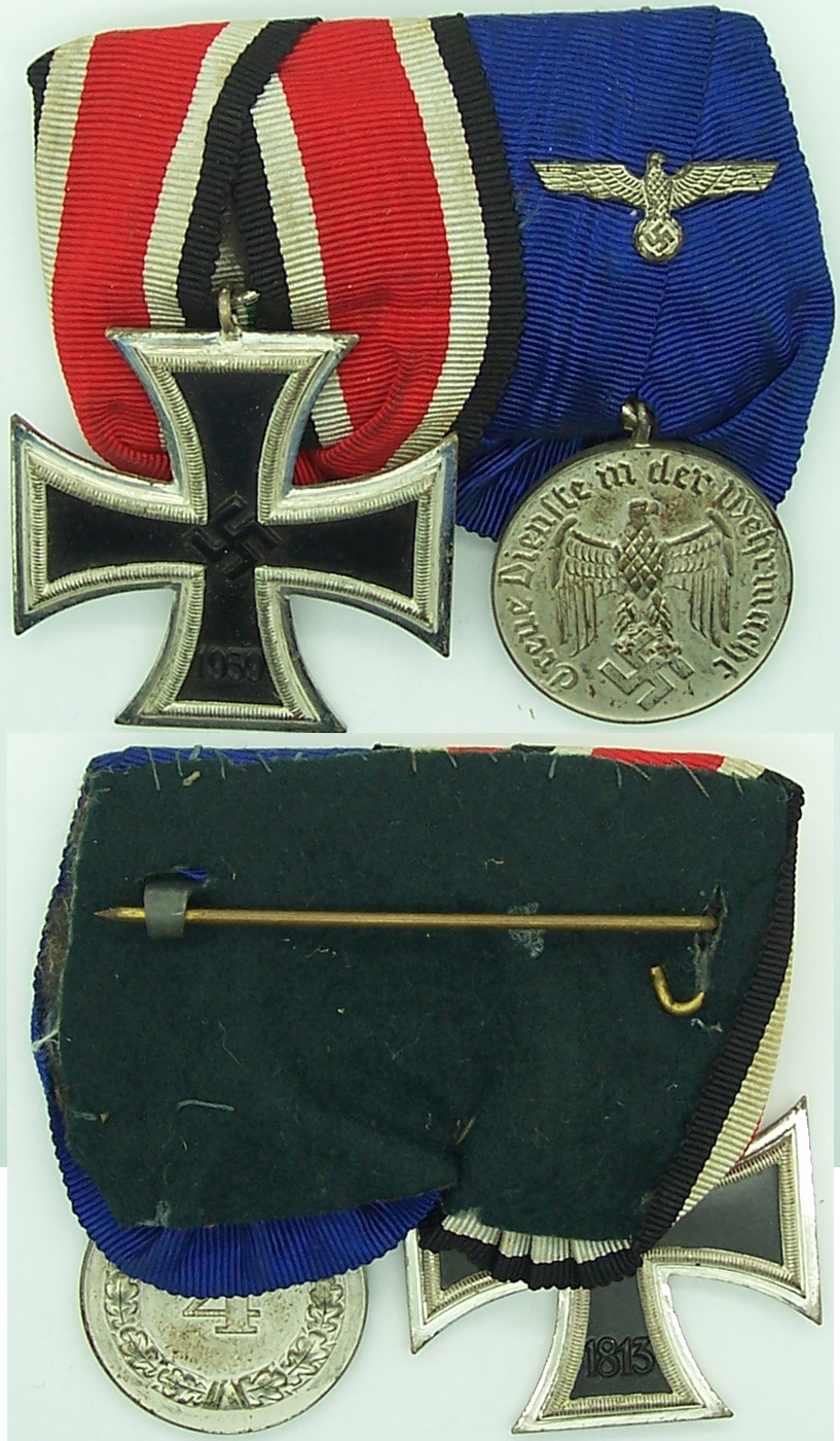 Two Place Medal Bar with Schinkel EKII