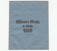 2nd Class Iron Cross 1939 Packet by Carl Forster & Graf
