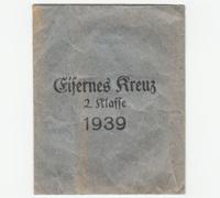 2nd Class Iron Cross 1939 Packet by E. Schmidthaussier