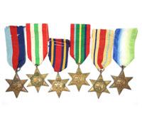 6 WWII Era British Stars