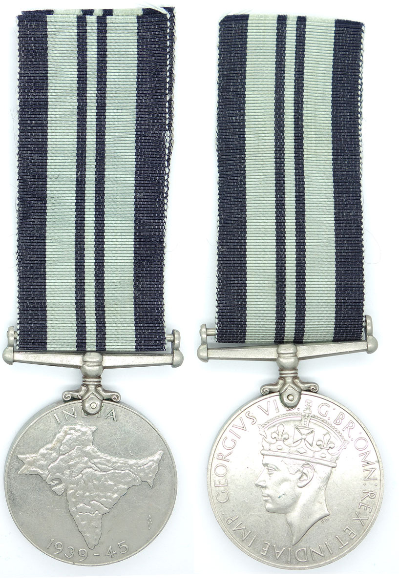 British India Service Medal 1939-45