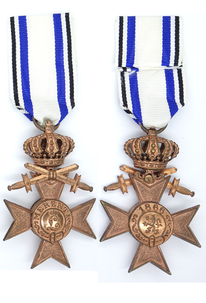 Bavarian 3rd Class Military Merit Cross w Swords and Crown