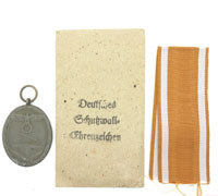 West Wall Medal with Packet by Carl Poellath