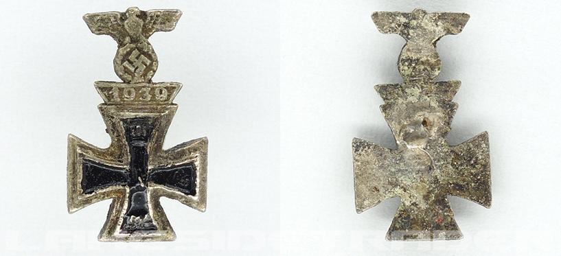 Miniature 1st Class Iron Cross 1914 and Spange 1939 Combo