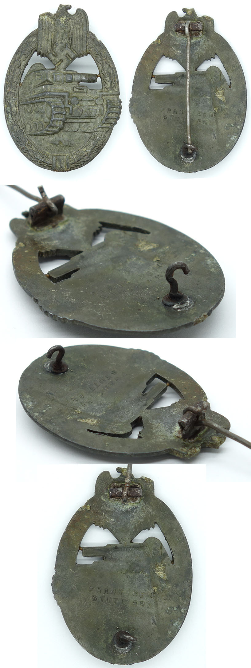 Bronze Panzer Assault Badge by Frank & Reif