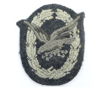 Radio Operator/Air Gunner Badge in Cloth