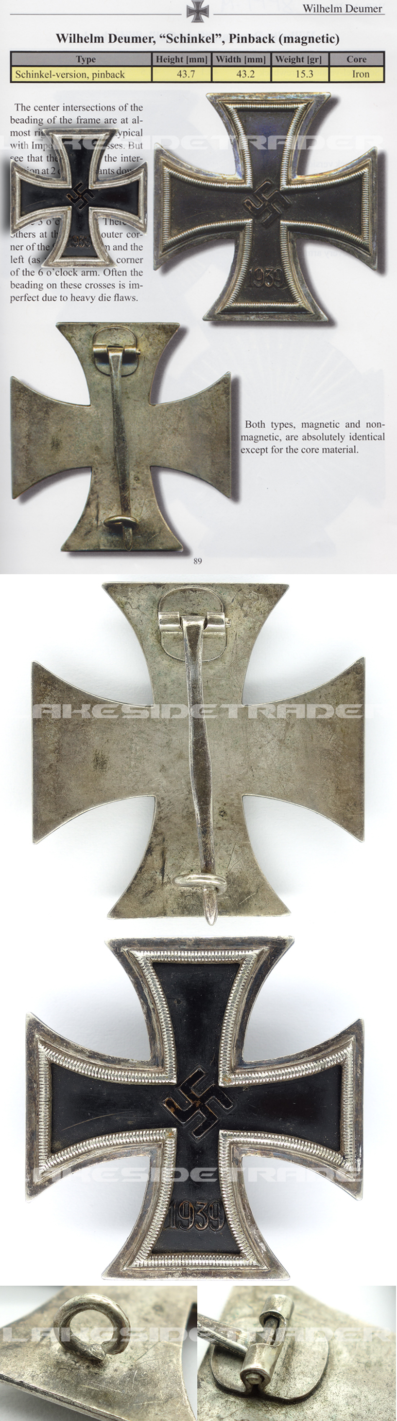 THE Textbook Example – Schinkel 1st Class Iron Cross by W. Deumer