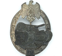 Grade II Silver Panzer Assault Badge by G.B.