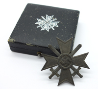 Cased 1st Class War Merit Cross with Swords by K&Q