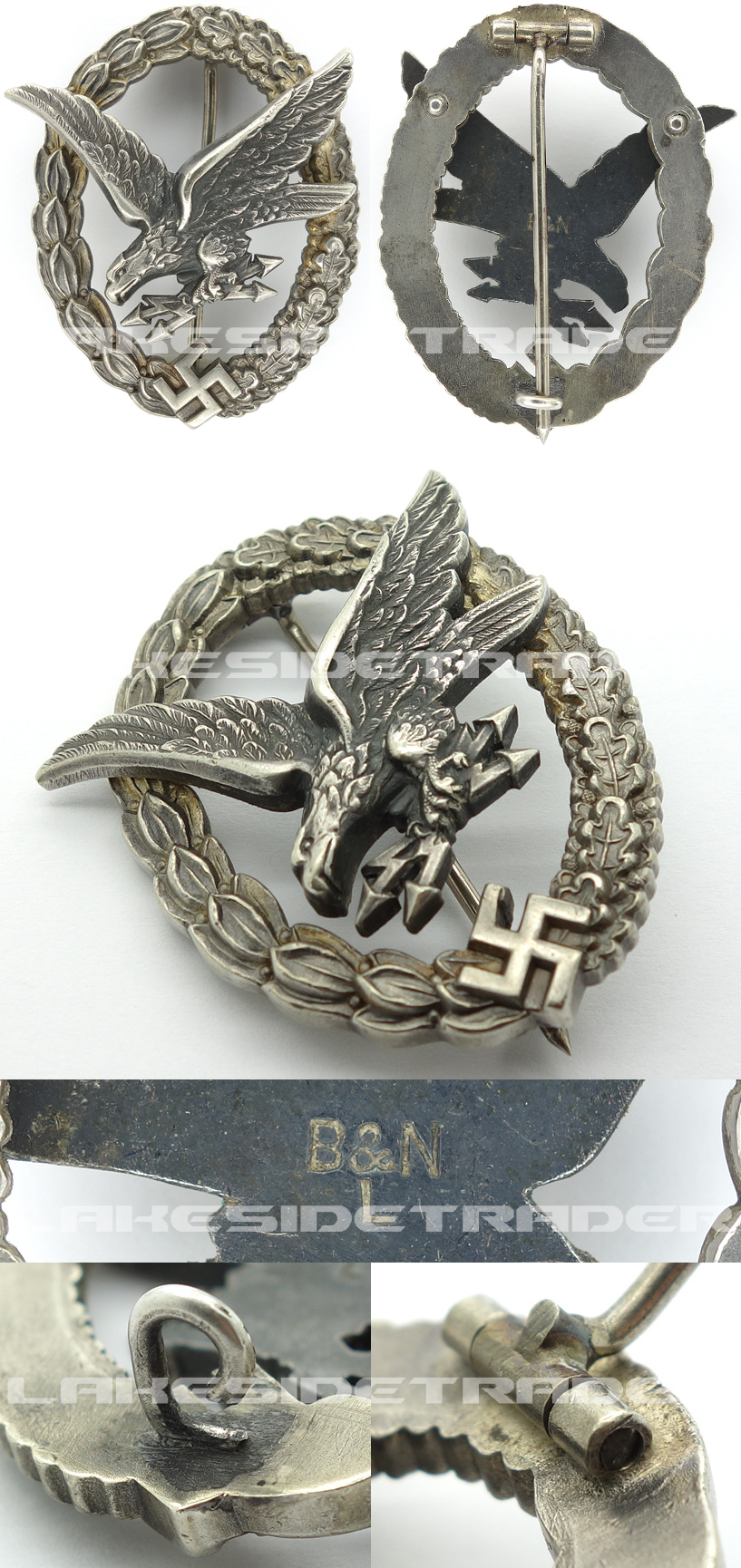 Radio Operator/Air Gunner Badge by B&N L