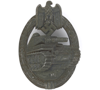 Silver Panzer Assault Badge by Frank & Reif