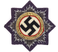 Luftwaffe Cloth German Cross in Gold
