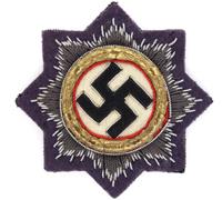 Luftwaffe Cloth German Cross in Gold