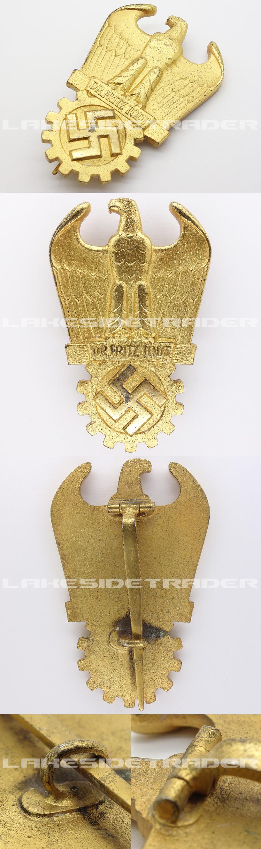 Dr. Fritz Todt Prize in Gold
