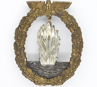 Navy Minesweeper Badge by C. E. Juncker