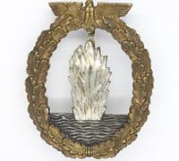 Navy Minesweeper Badge by C. E. Juncker
