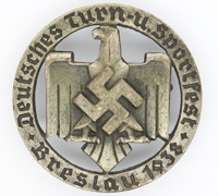 DRL Breslau Sportfest Badge 1938 by H. Aurich