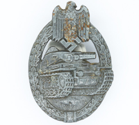 Silver Panzer Assault Badge by F. Weidmann