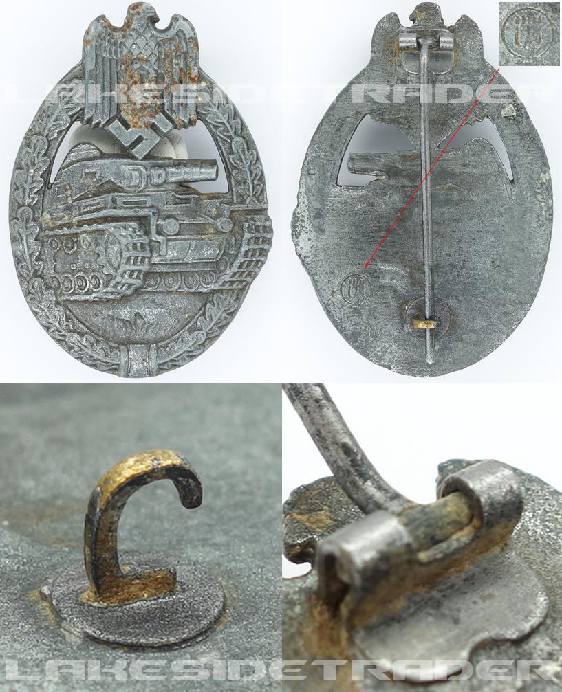 Silver Panzer Assault Badge by F. Weidmann