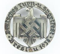 DRL Breslau Sportfest Badge 1938 by Rob Neff