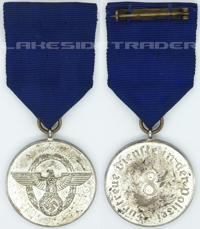 Police 8 Year Long Service Award