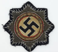 Tagged Gold German Cross in Cloth for Navy