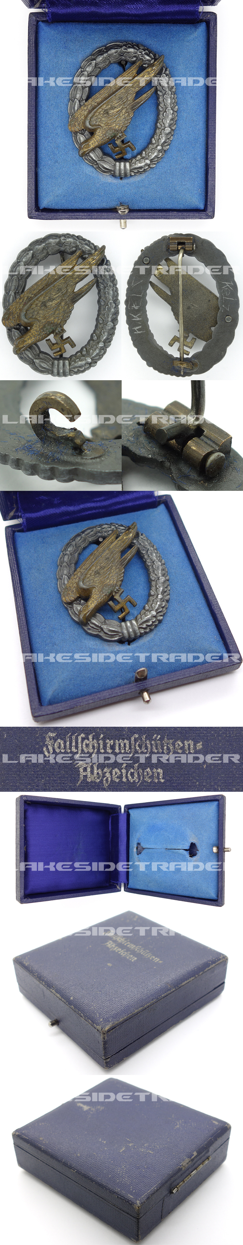 Personalized - Cased Luftwaffe Paratrooper Badge by FLL