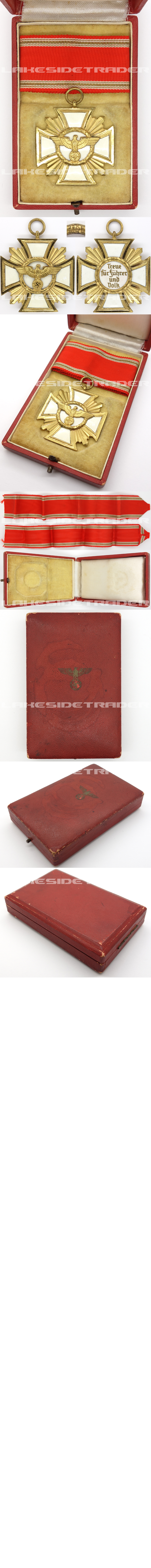 Cased 25 Year NSDAP Long Service by W. Deumer