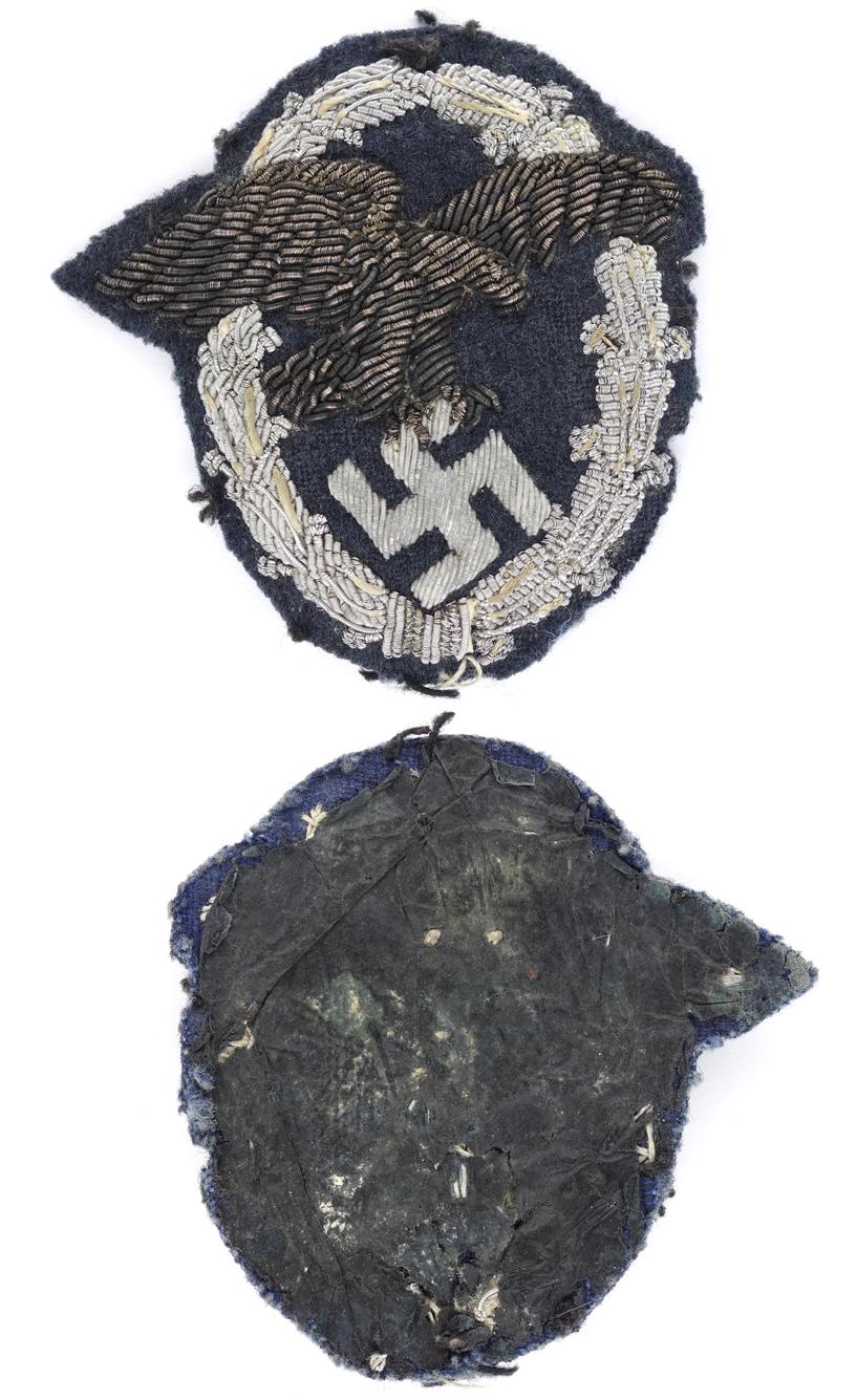 Luftwaffe Officers Observer Badge in Bullion