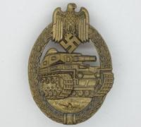 Bronze Panzer Assault Badge by Unknown Maker IV
