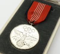 Cased Olympic Memorial Medal 1936