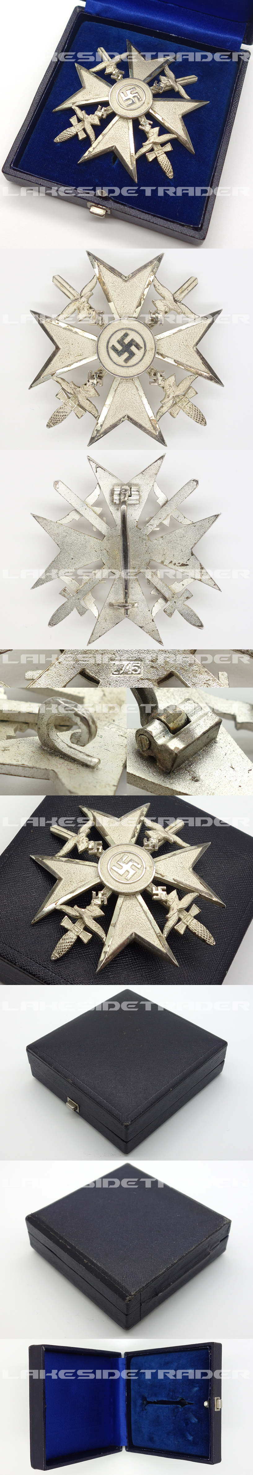 Spanish Cross with Swords in Silver by L/15