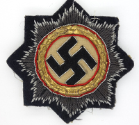 Cloth German Cross in Gold for Panzer