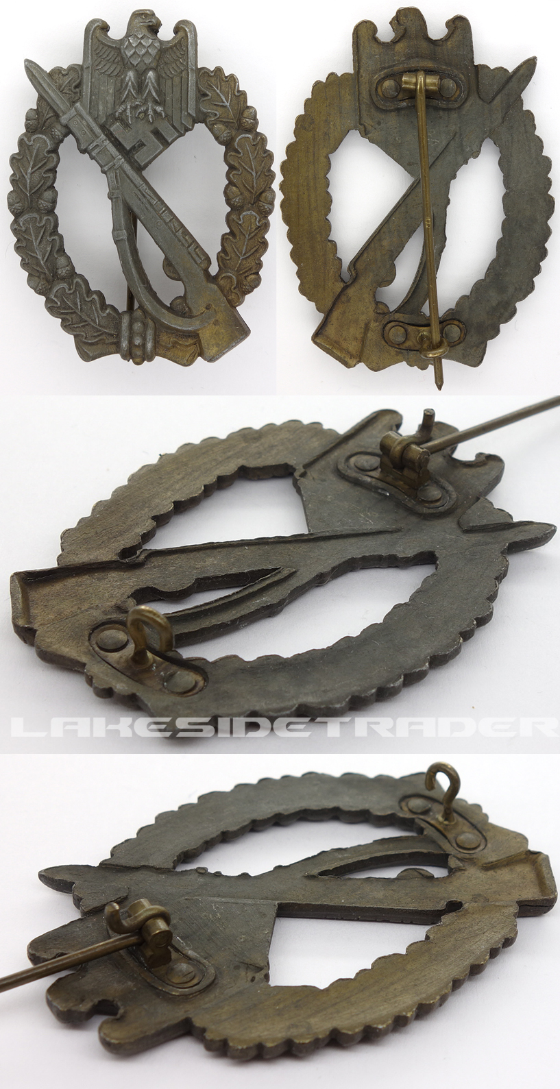 Bronze Infantry Assault Badge by Ferdinand Hoffstadter